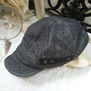 Black NEWSBOY Cap HAT BY BILLABONG